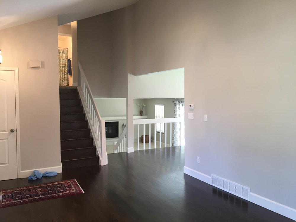 dark stained hardwood floors