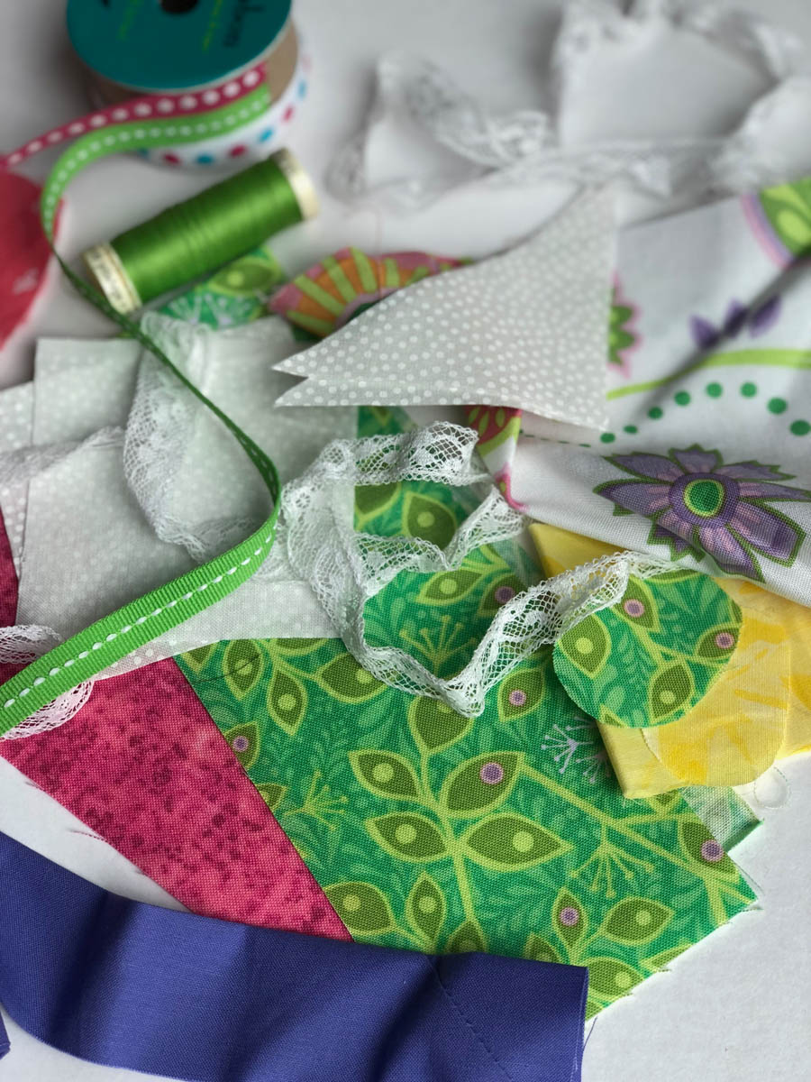 fabric and lace supplies for embellishing purchased cards