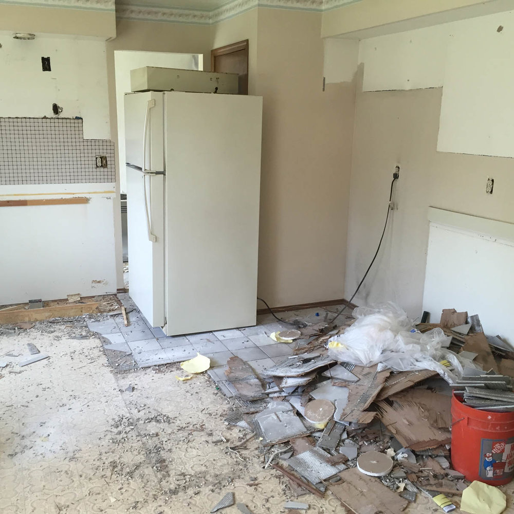 kitchen tear out remodel