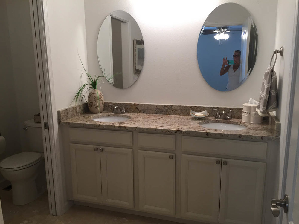 master bathroom sinks after remodel