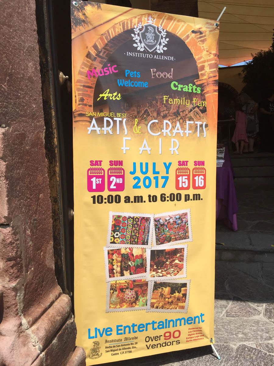 arts and crafts fair in San Miguel de Allende