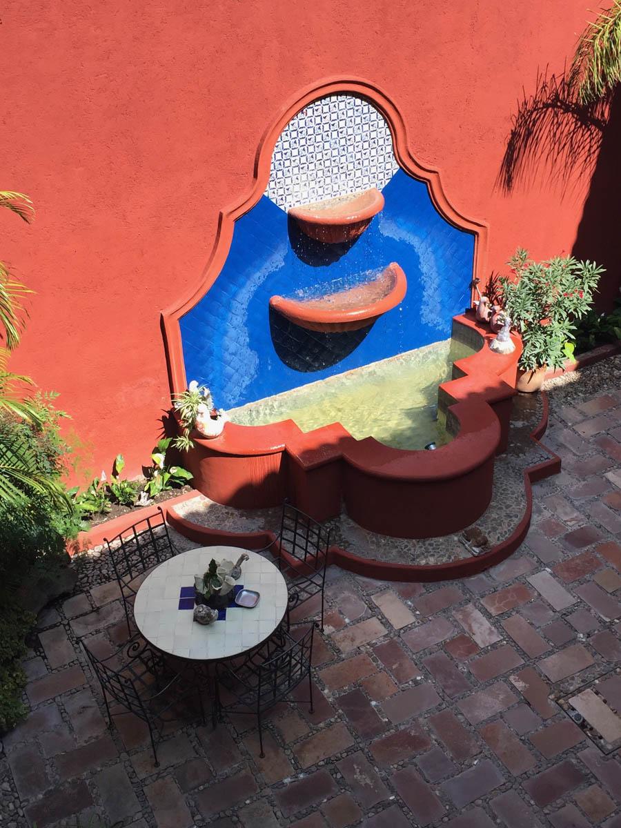 San Miguel de Allende fountain in courtyard