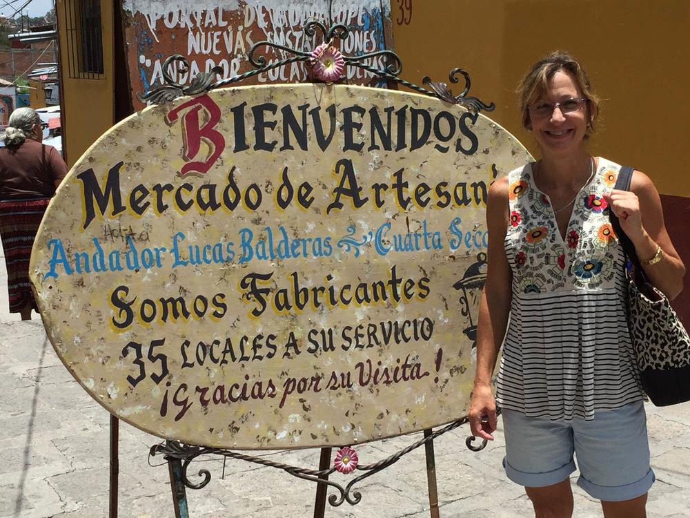Mercado de artesans open air craft market in San Miguel de Allende