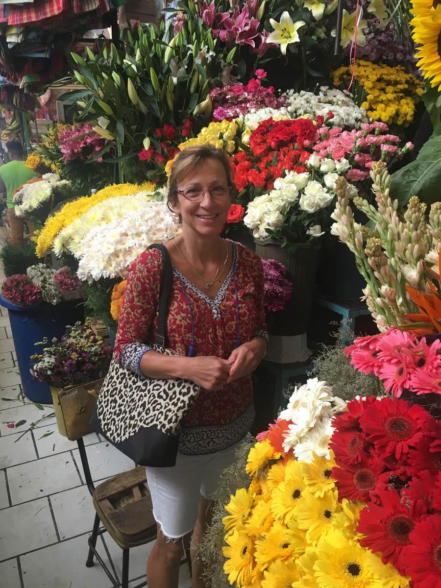 Flower shop in the marketplace of San Miguel de Allende
