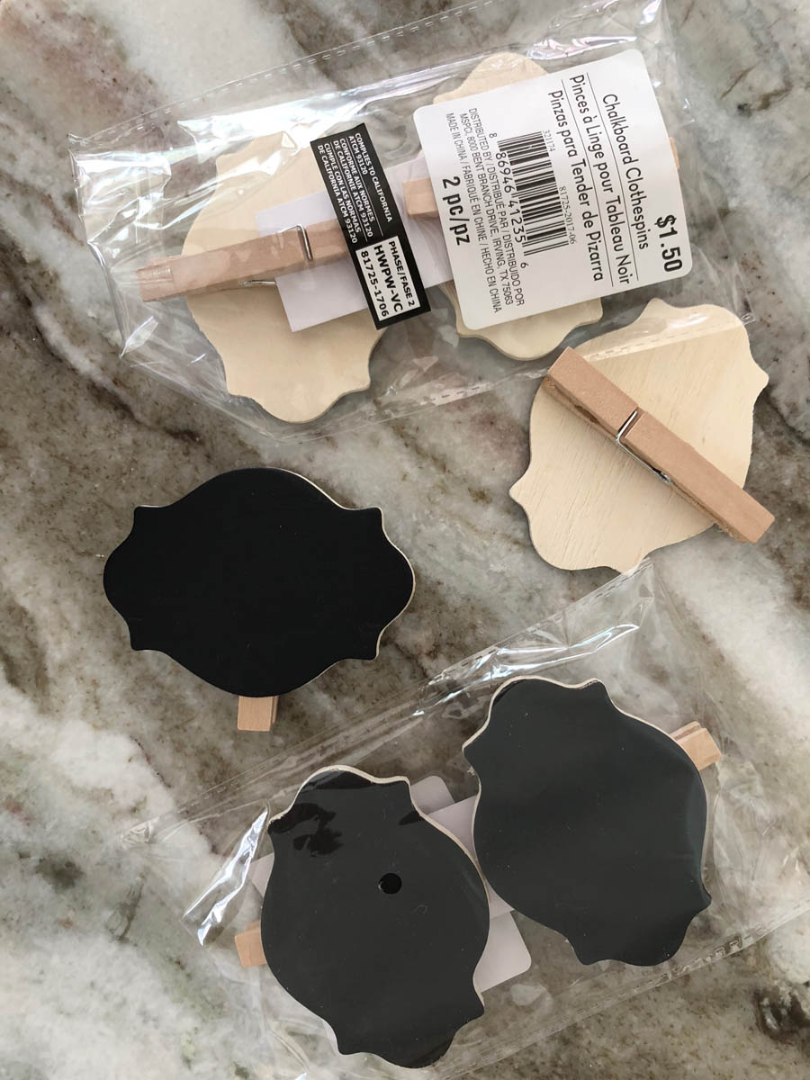 mini blackboard clips for place cards