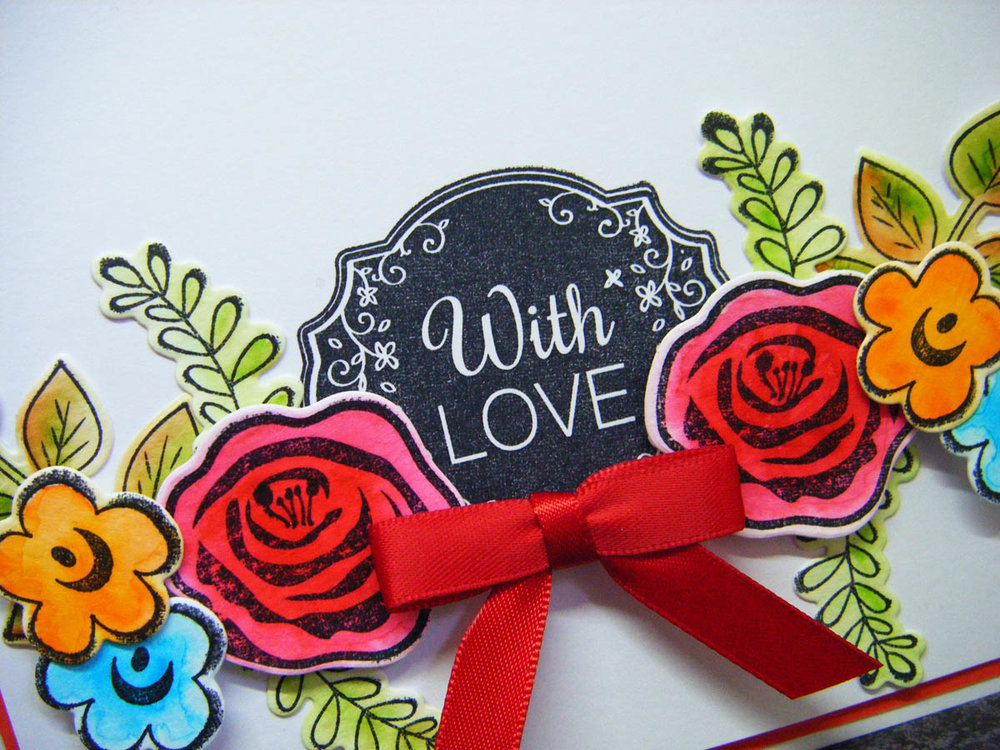 Hand-made paper craft greeting card