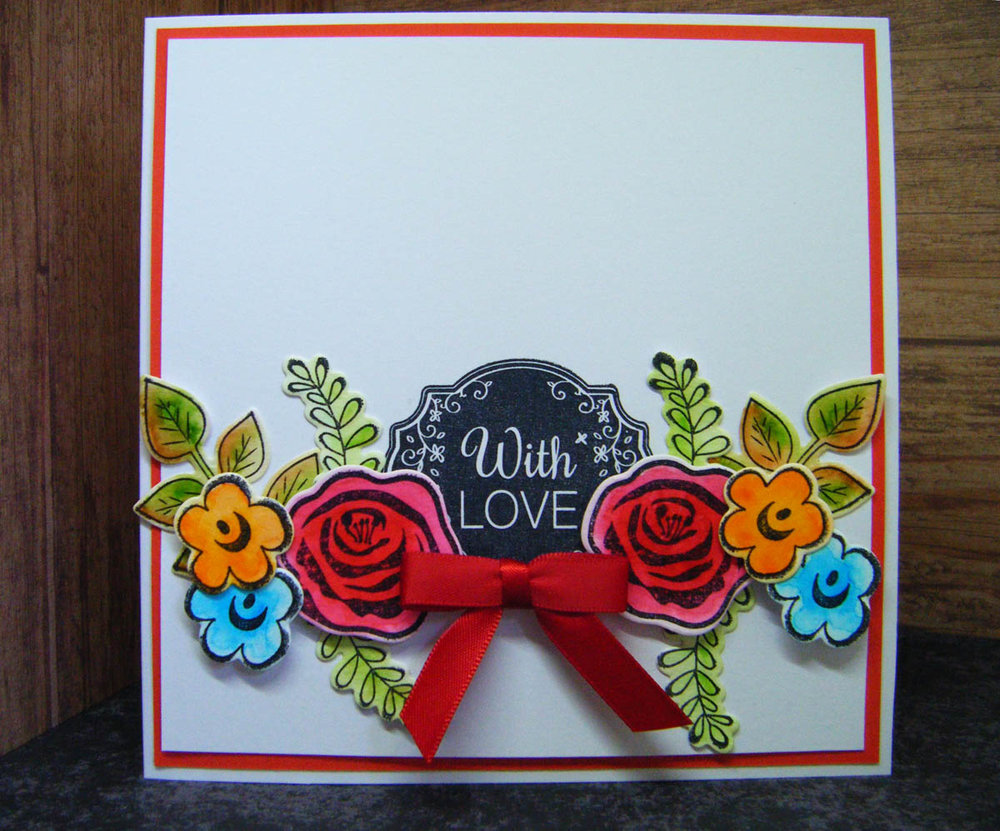 The finished Modern Floral Divine paper craft card