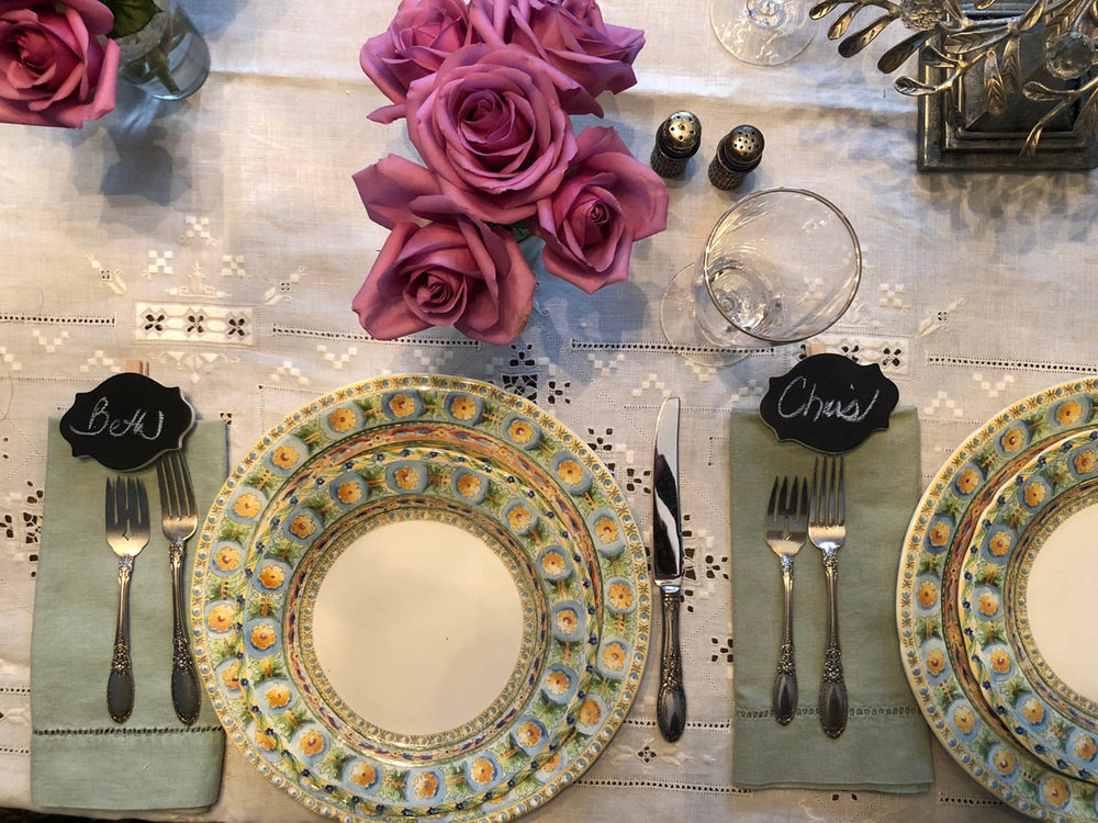 Table setting for French feast