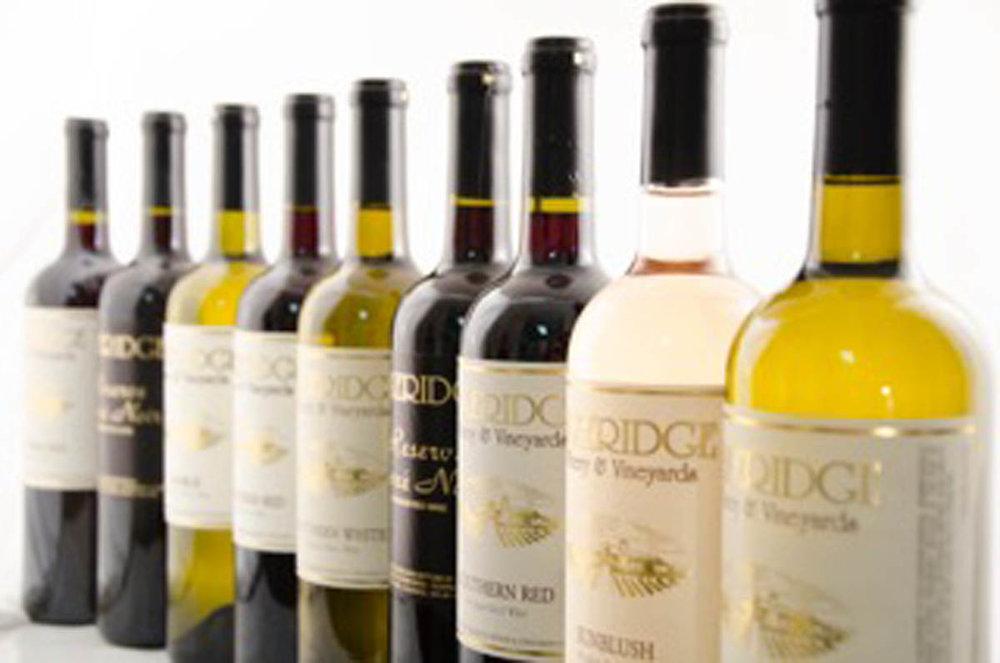 Wines from Lakeridge Winery & Vineyards and San Sebastian
