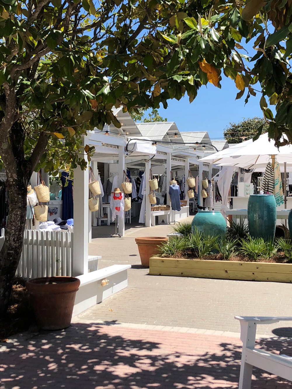 Open air shops of Seaside, Florida