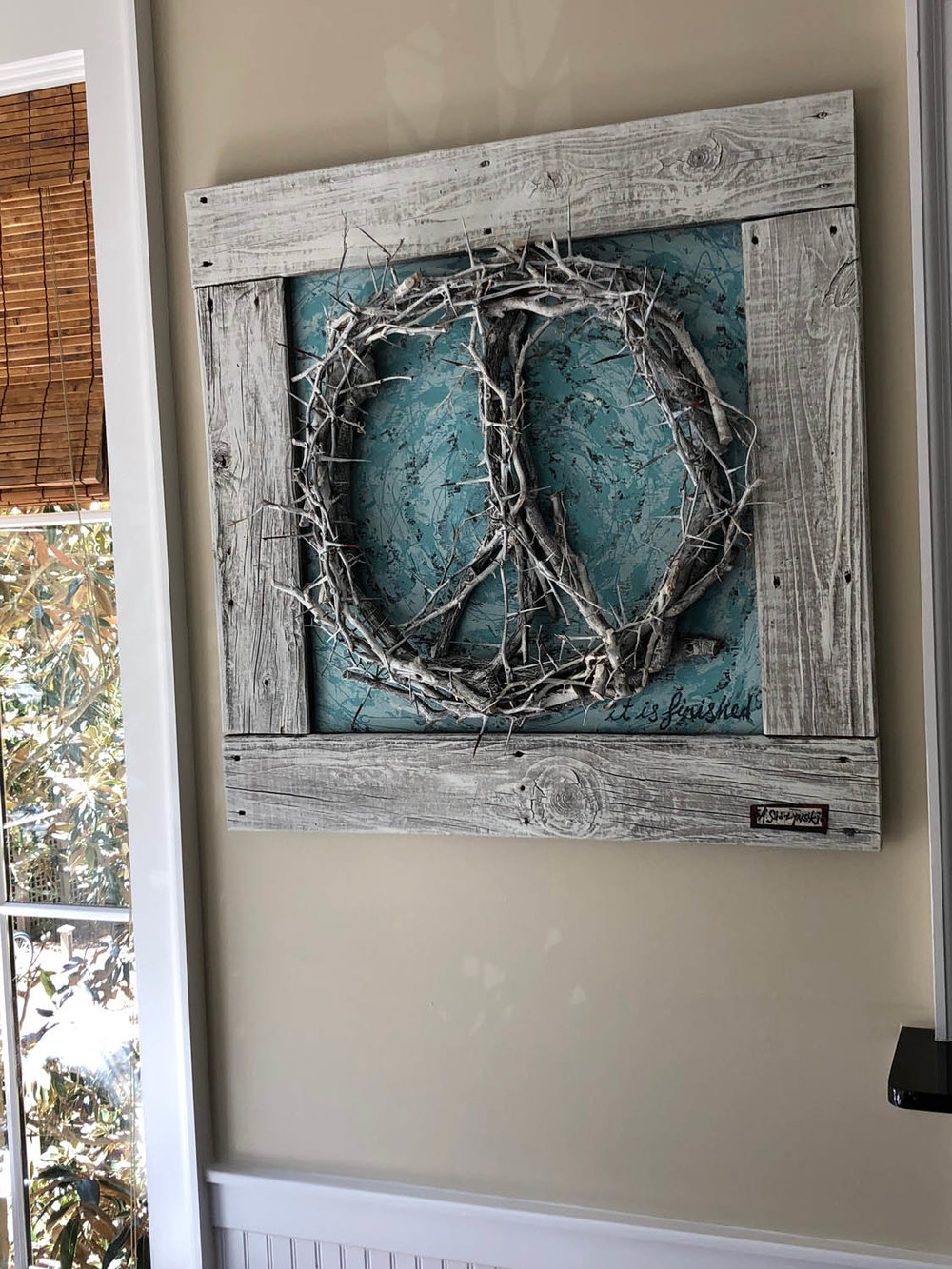 Grapevine peace sign at Airbnb in Grayton Beach, Florida