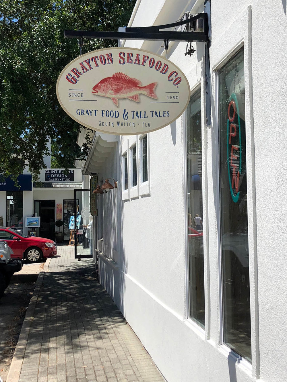 Grayton Seafood Company restaurant in Grayton Beach, Florida