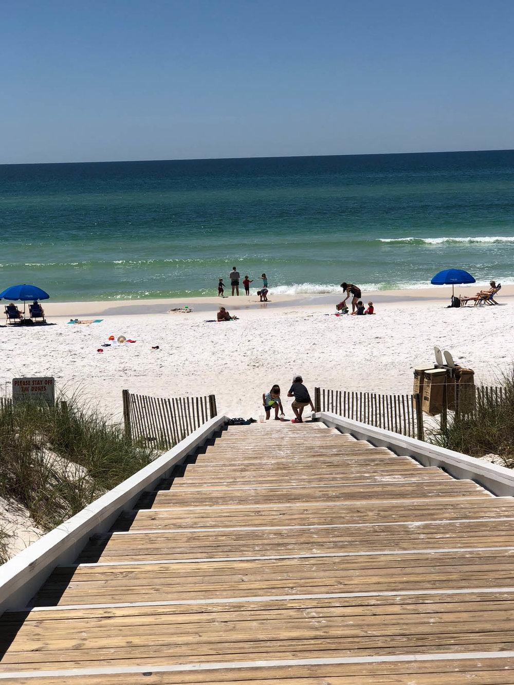 Grayton Beach, Florida, white water and sand