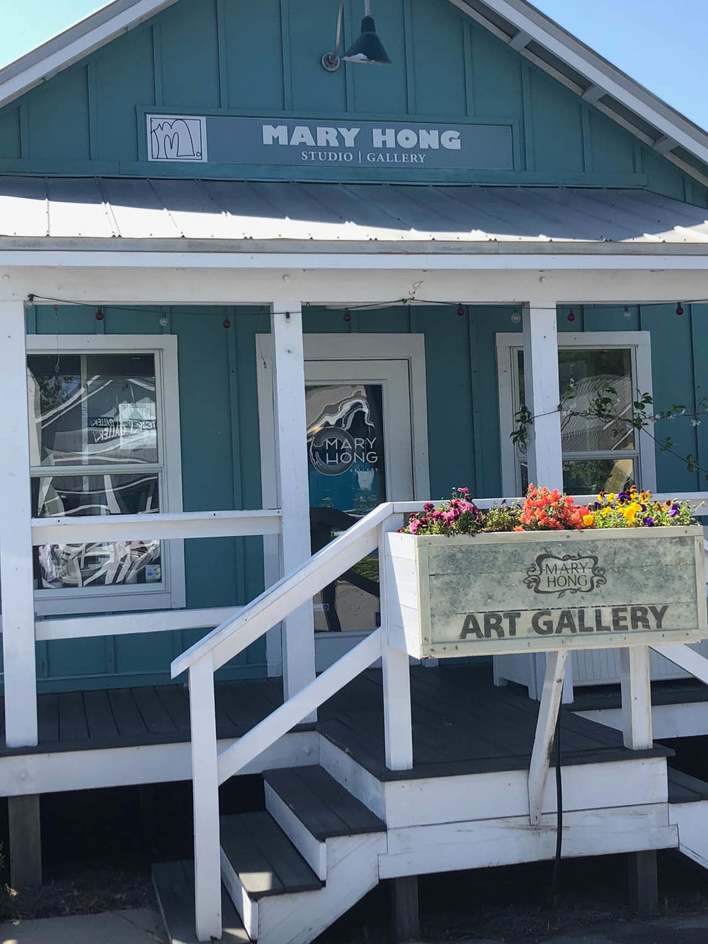 Exterior of Mary Hong's studio in Grayton Beach, Florida
