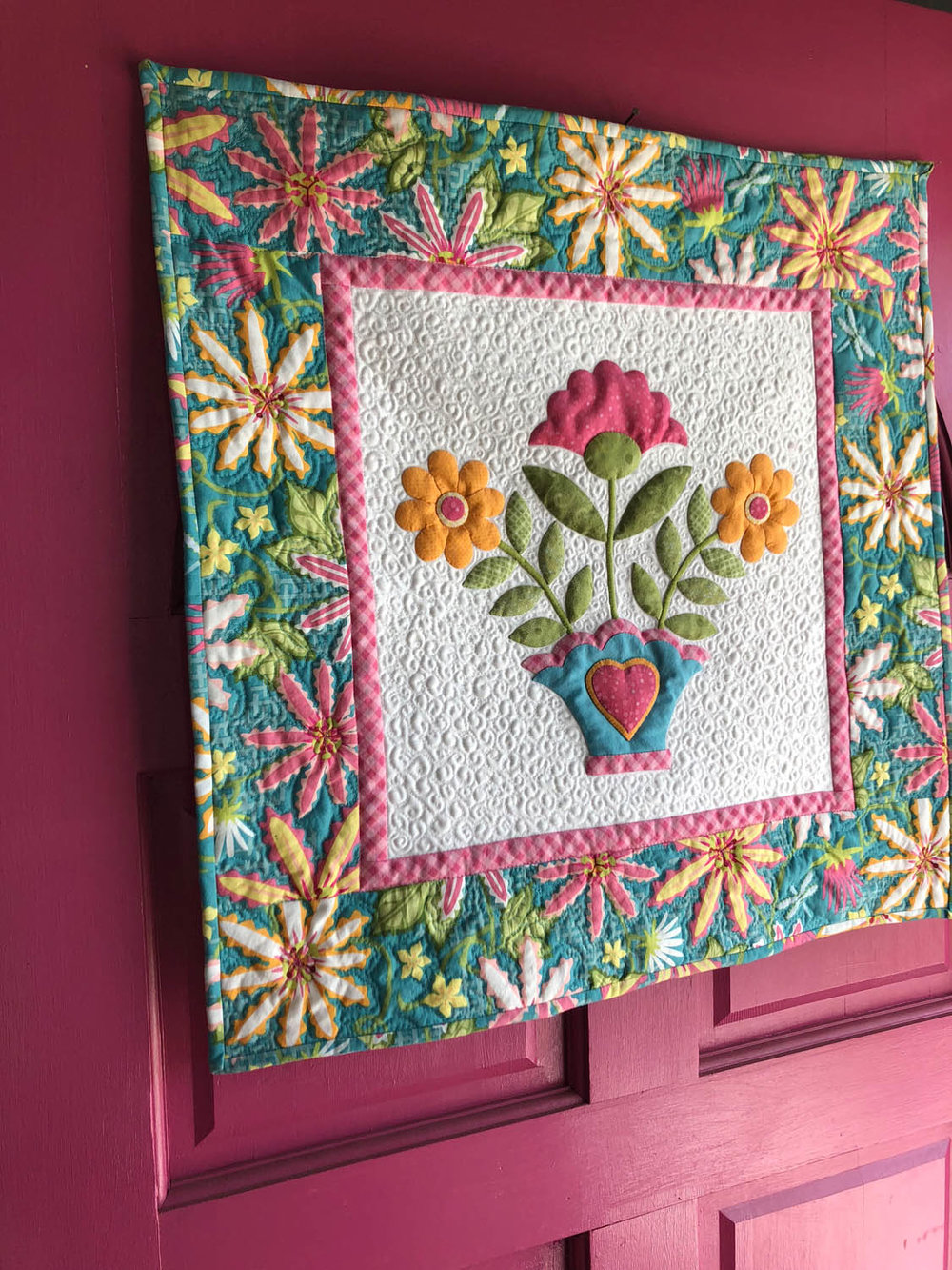 Miss Ashley appliqué quilt by Erin Russek