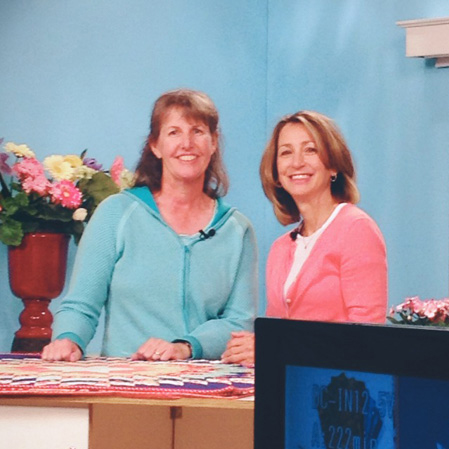 Erin Russek and Ashley on McCall's Quilting video set