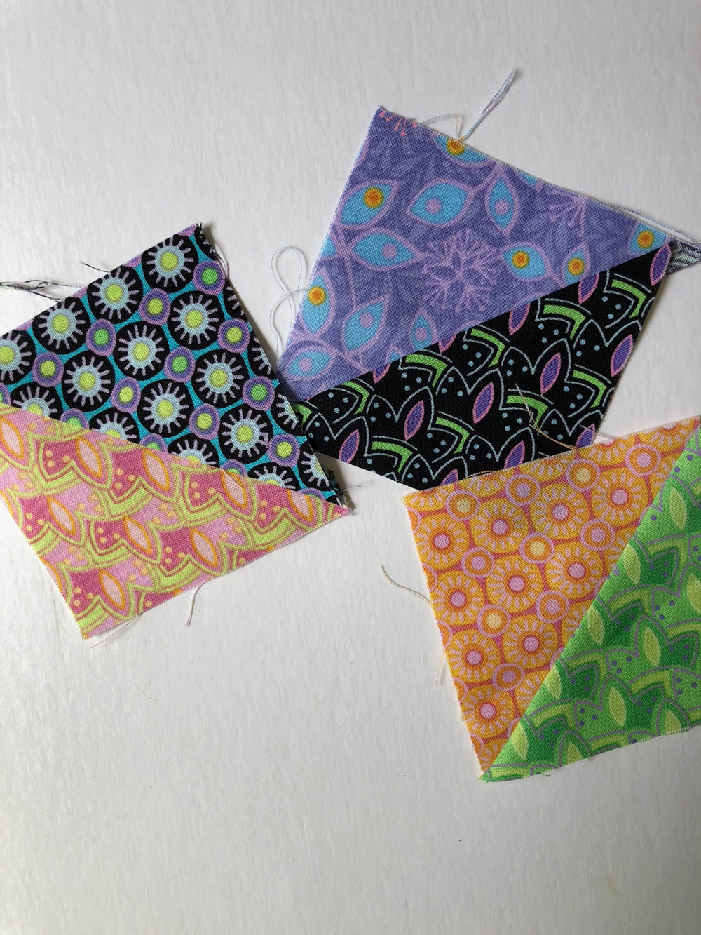 Left over half-square triangle quilt units
