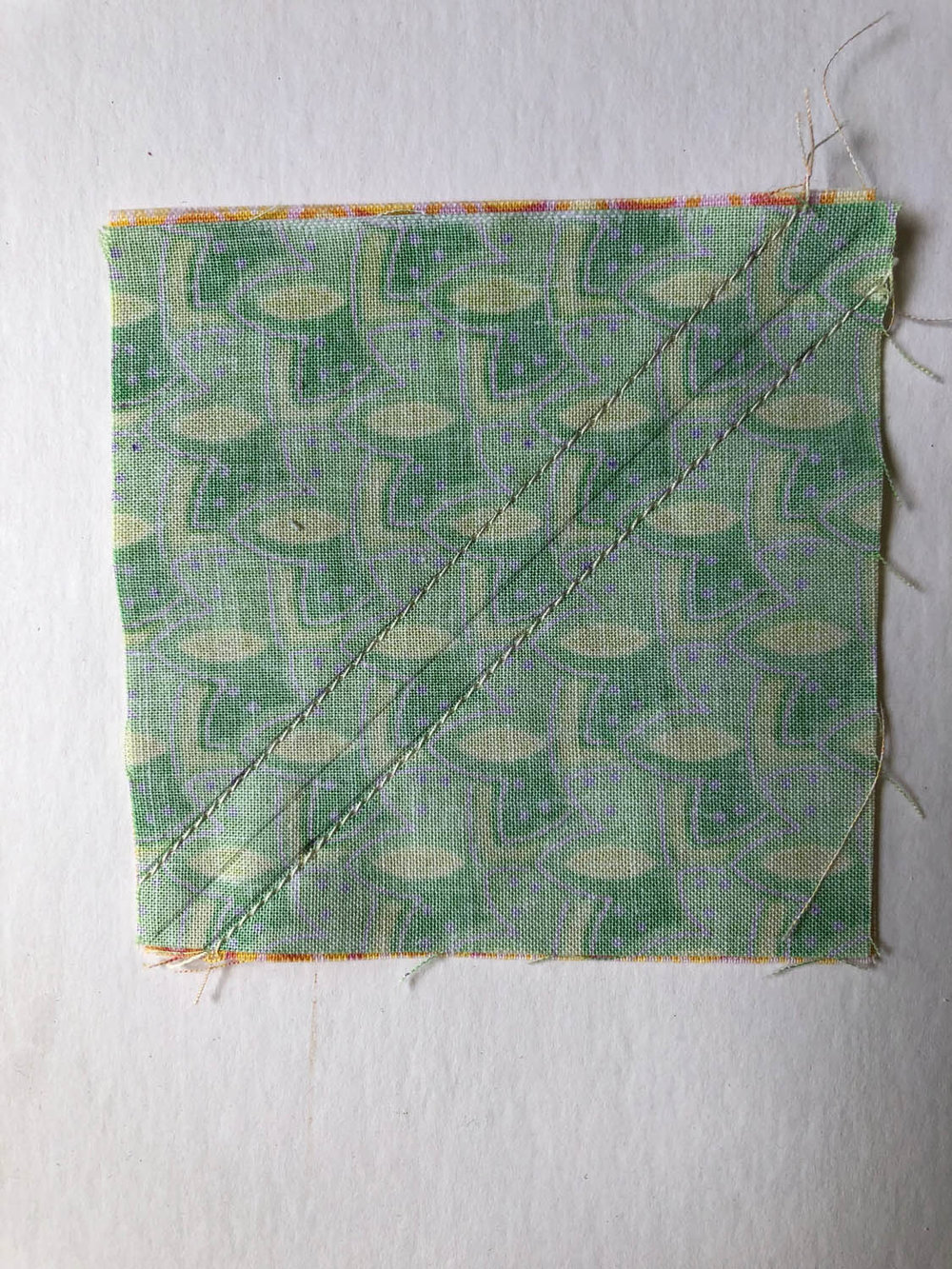 sewing fast half-square triangle units