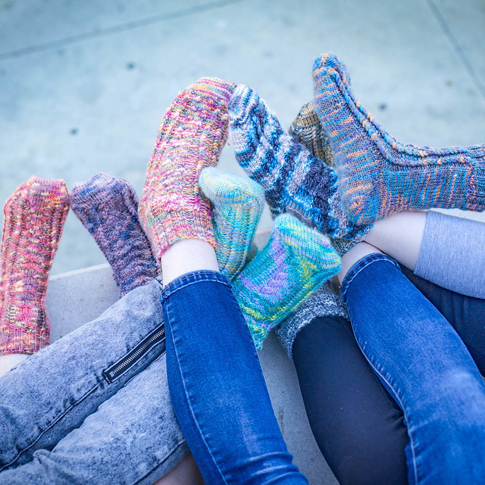 Cable Twist hand knitted socks pattern by Fair Isle