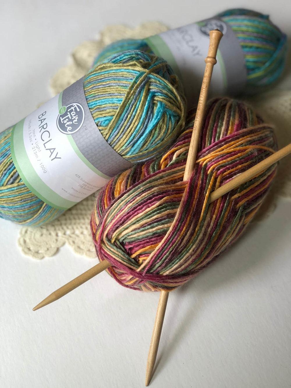 Barclay variegated superwash yarn from Fair Isle