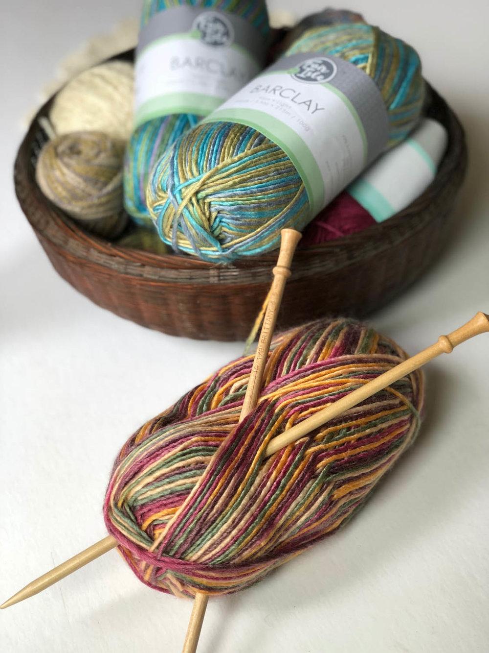 Barclay variegated superwash yarn by Fair Isle Yarns