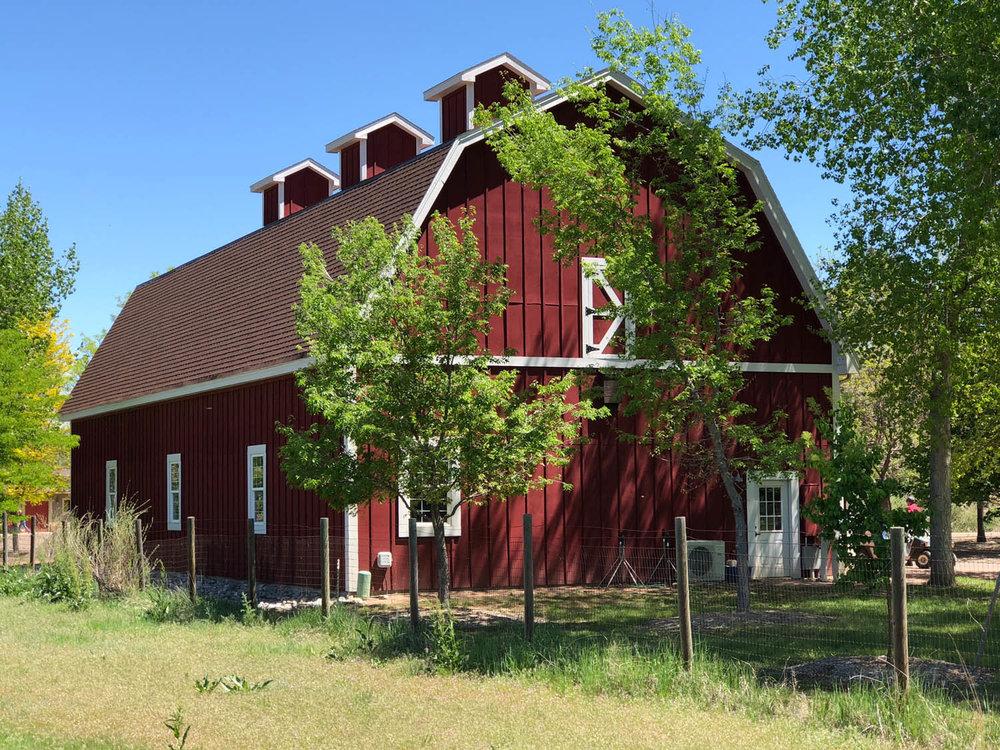 Red Barn at Hudson Gardens along Platte River Trail in Littleton, CO