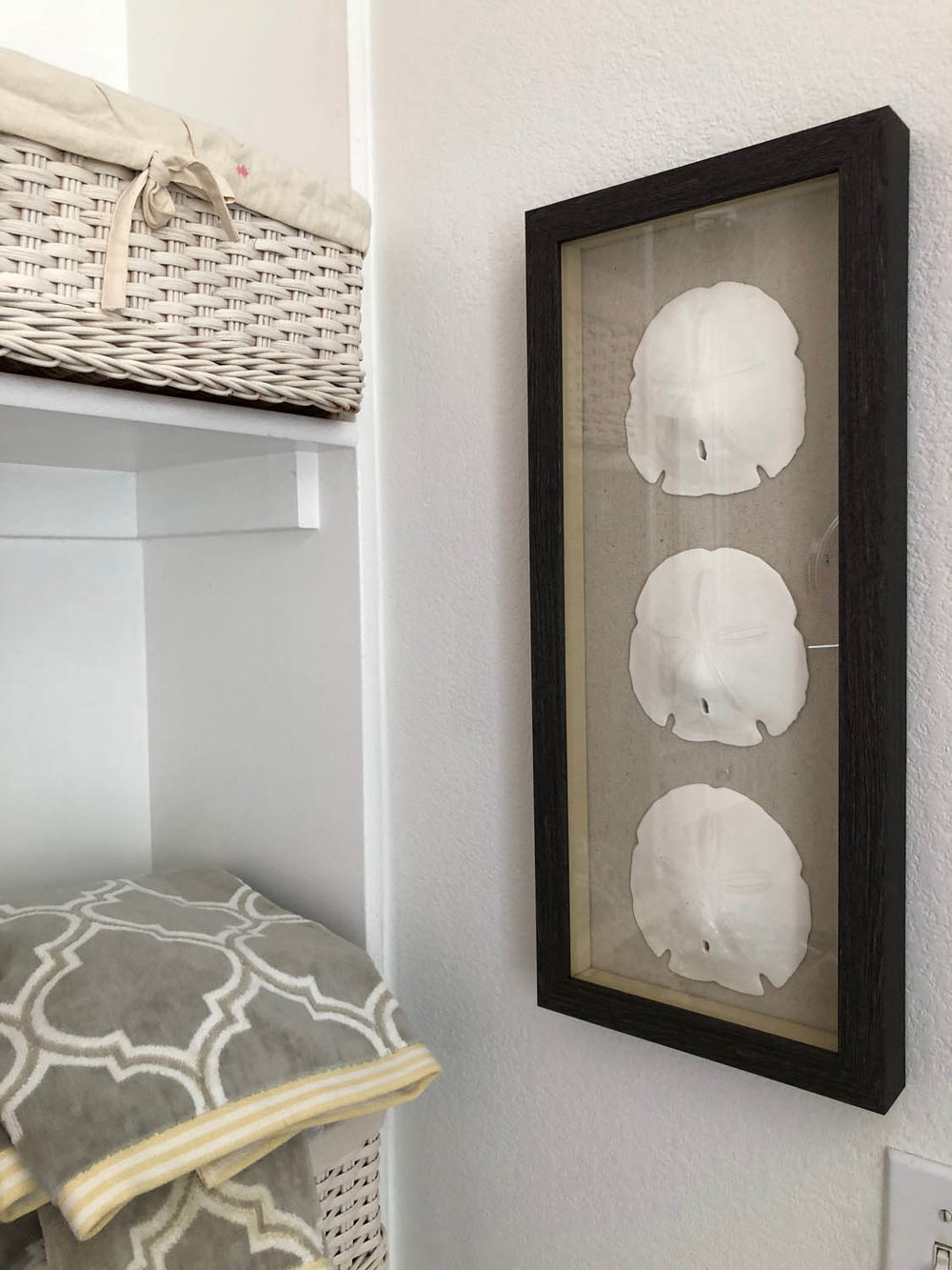 easy DIY shadow box displaying collection in memory shadow box frames