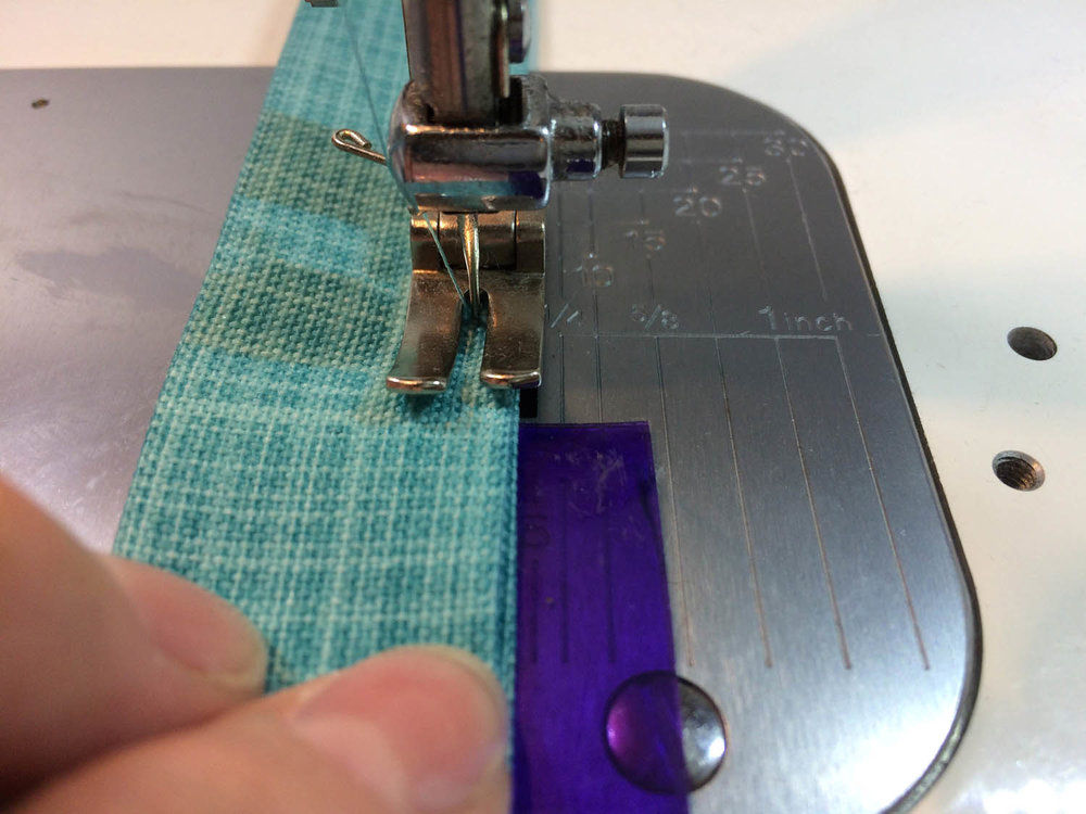 q tools sewing edge topstitching along strap edges