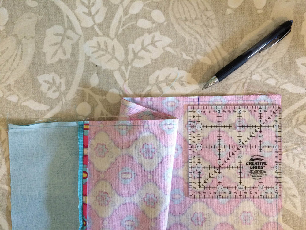 how to mark tote bag for box corners
