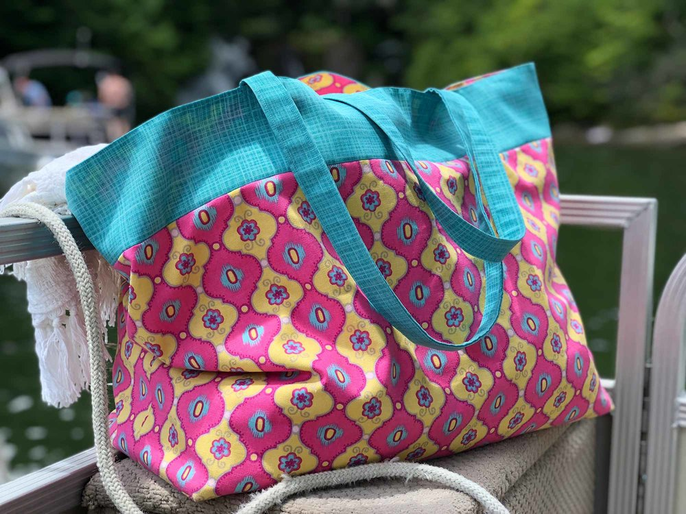 How to make a tote bag with lining--photo tutorial on Yarn Scissors Silk