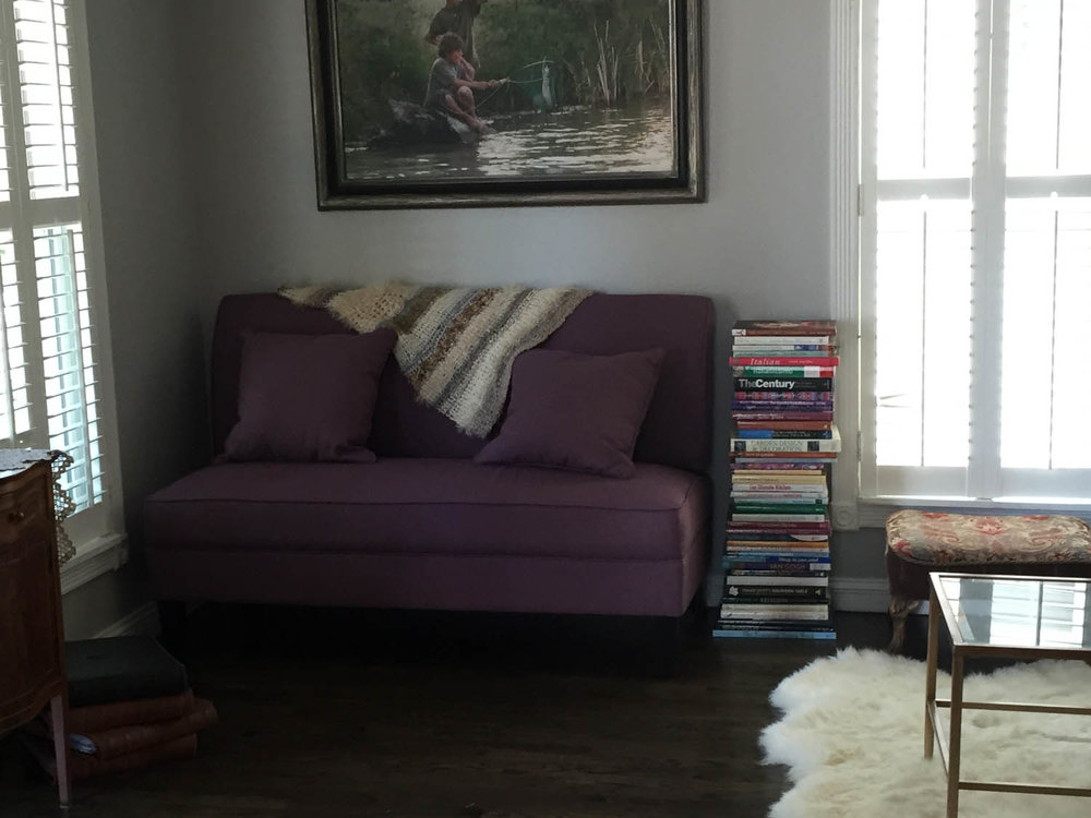 Reading nook after remodel