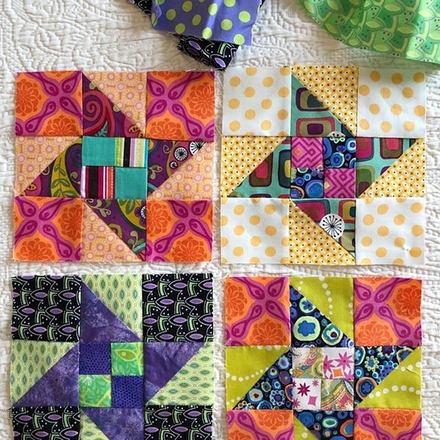 A few blocks from my latest quilt! Loved being back at my sewing machine🌸 See more quilting & sewing projects on my website http://ow.ly/rpsC50ikZst #sewing #quilting #ilovesewing #creativelife #craftylife #ilovequilting #fabriccrafts #prettyfabric #sewingprojects #creativemom #colorfulquilts