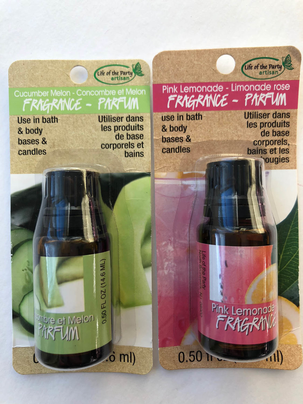 Life of the Party cucumber melon and pink lemonade fragrances