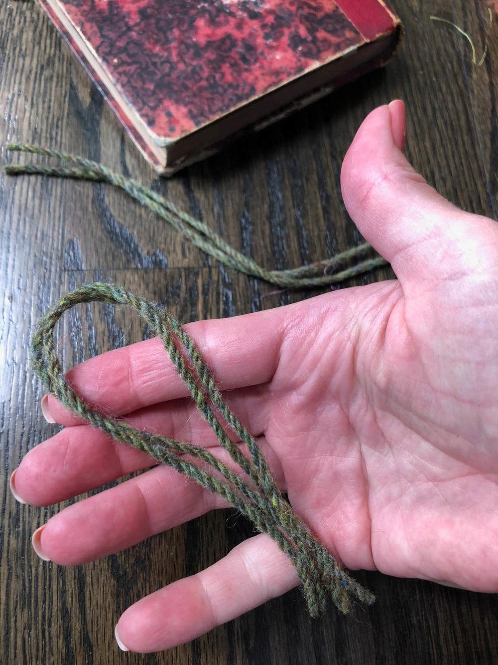 looped yarn strands for tassels