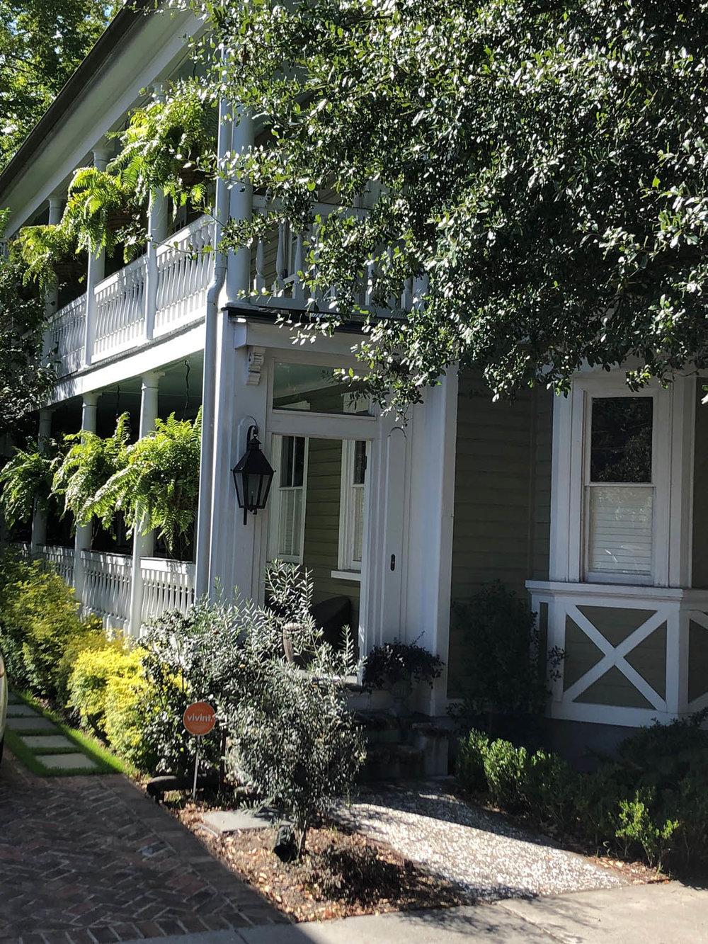 hospitality porch door on Charleston house