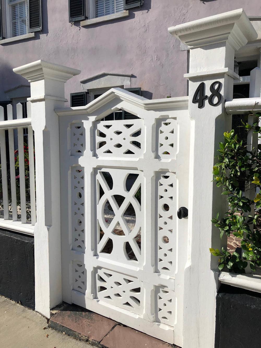 gorgeous white lattice gate