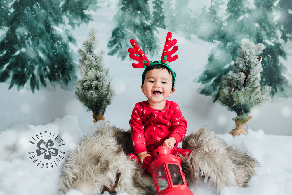 Happy baby Christmas photo