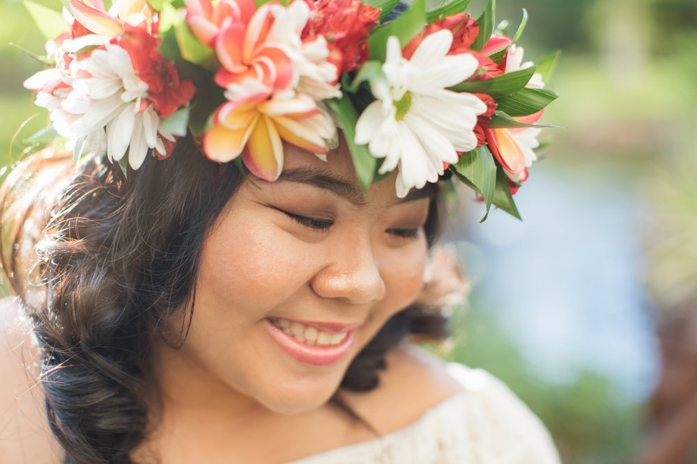 Haku leis, or lei po'o, is a crown made of fresh flowers, and popular for celebrating special occasions.