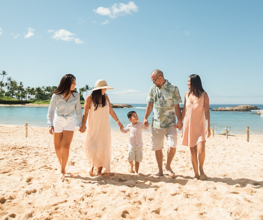 This family selected their matching resort wear with the help of the stylists at Caprice.