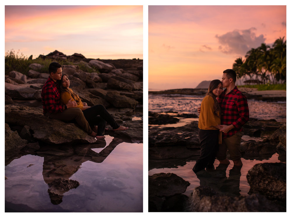 Ko Olina Couple Photographer Sunset
