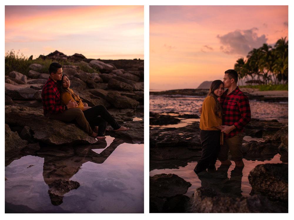 Ko Olina Couple Photographer Sunset