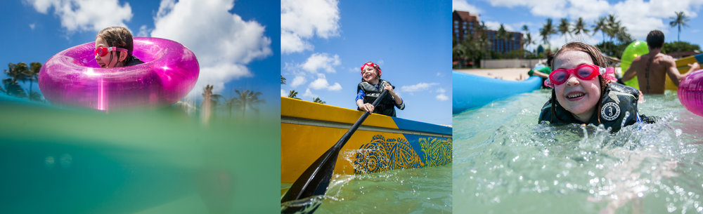 Asia captured these sweet moments during a outrigger ride with the Kids Club at Four Seasons Oahu