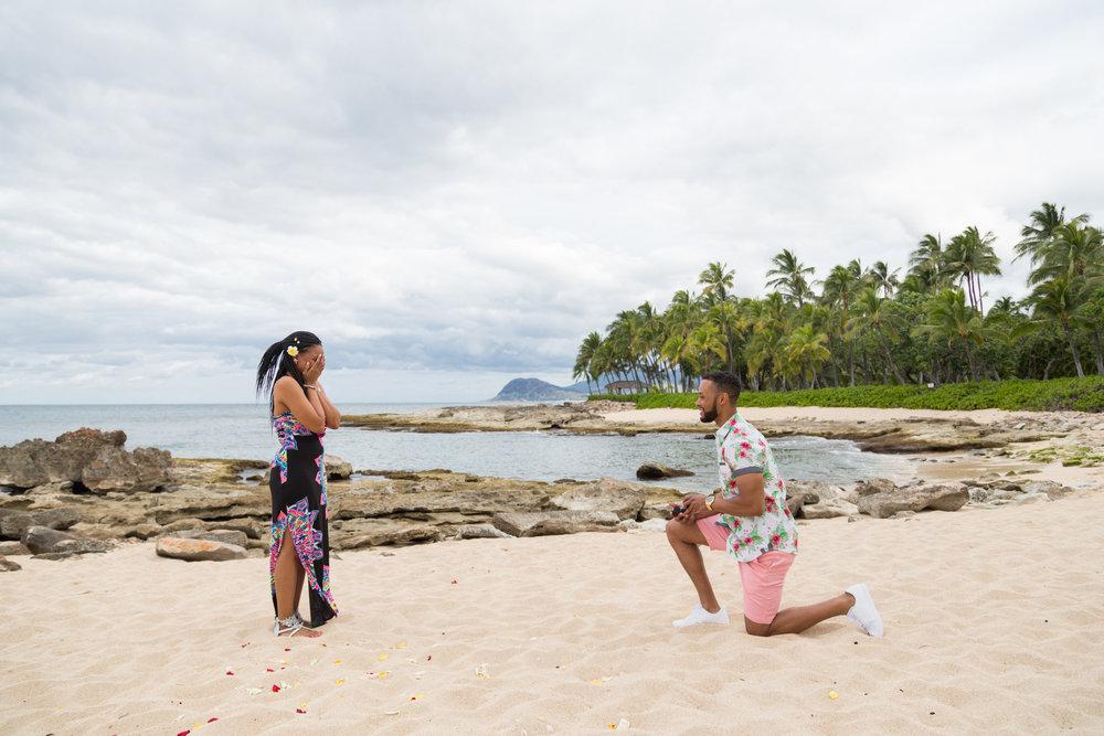 four seasons oahu proposal photographer liz