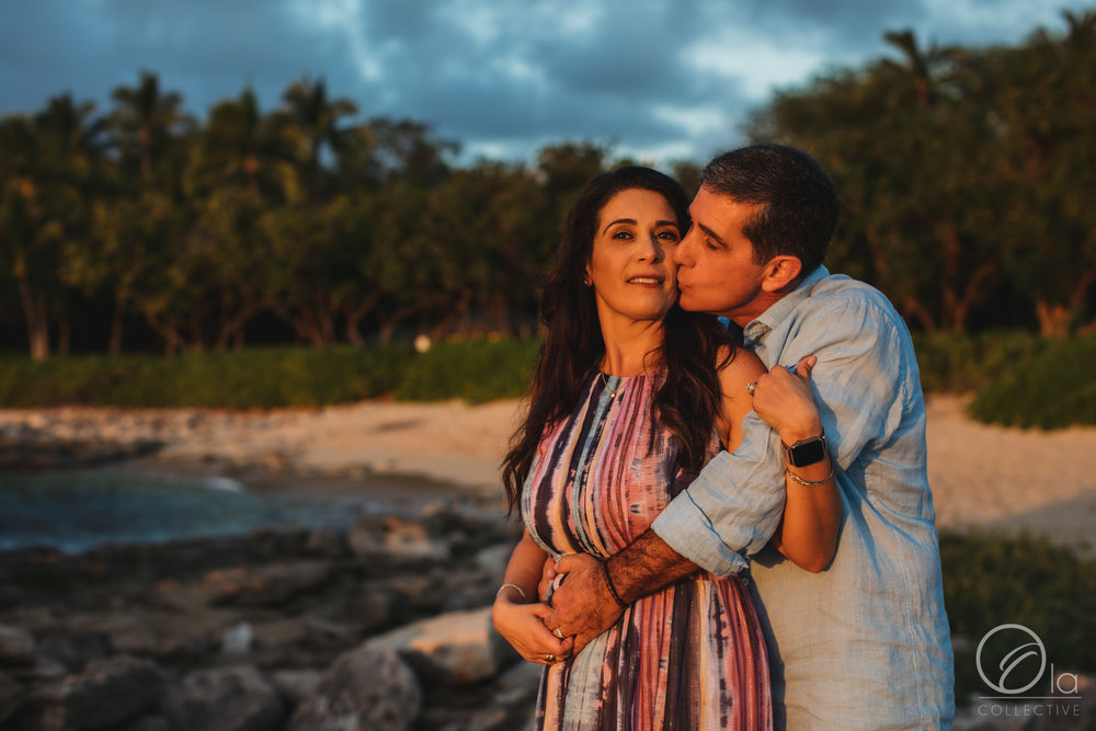 A beautiful golden sunset glow made their session unforgettable.