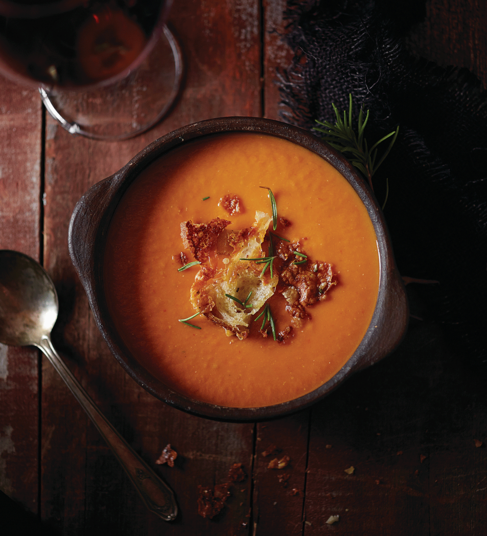 Tuscan Tomato White Bean Soup - Pureed to perfection, white beans lend creaminess to. this soup, which is best enjoyed with homemade croutons.