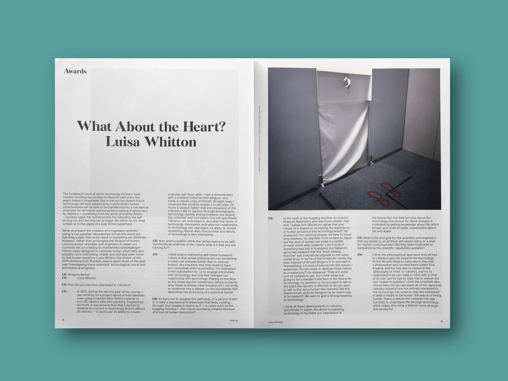2013   Hotshoe Magazine  (UK) Issue 185  'What About the Heart?'