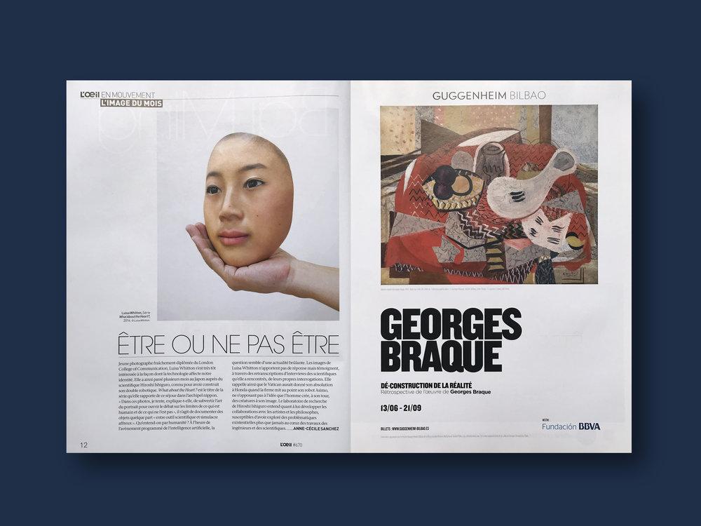 2014   L'oeil Magazine,  (FR) Issue 670, ' L'image Du Mois'
