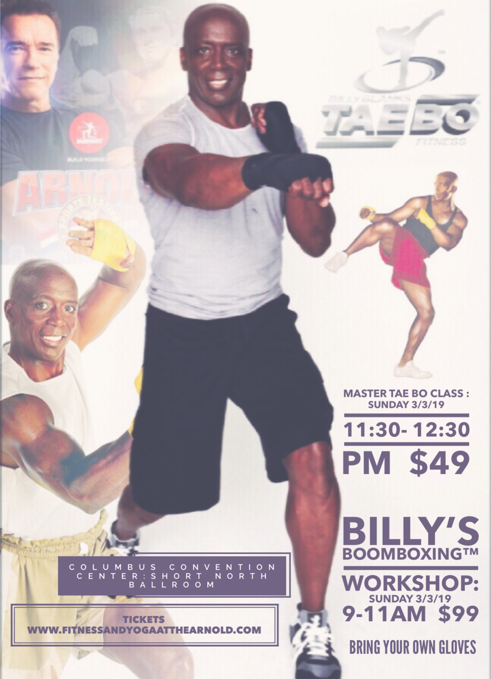 This workshop will be one you don't want to miss! - Billy is a legend in the Fitness Industry
