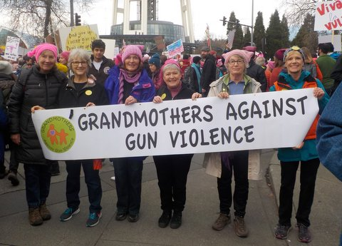 Grandmothers together at the Women's March 12.21.17