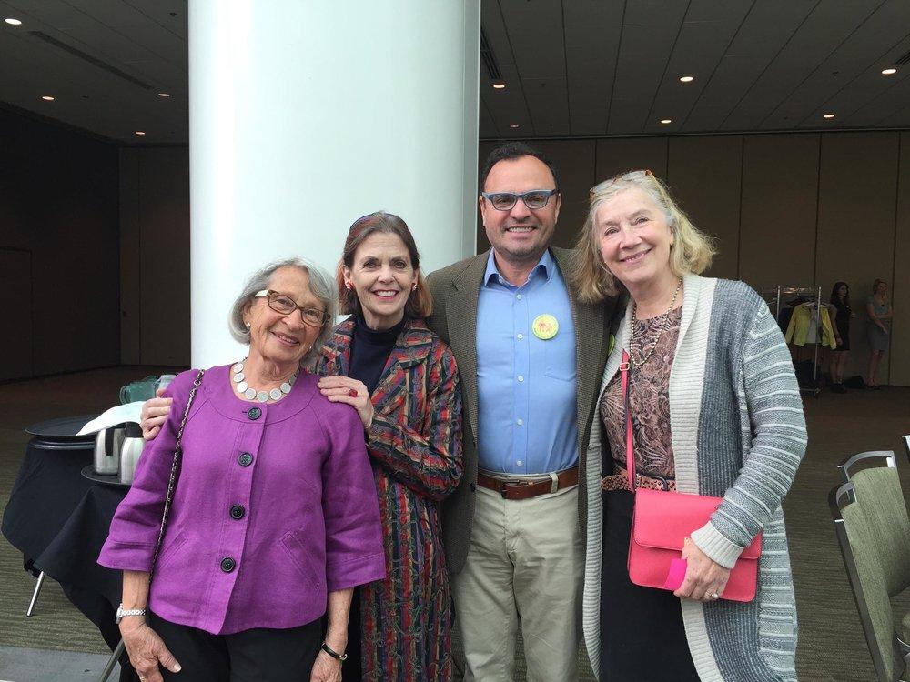 Grandmothers Liz Brandzel, Alison Harris, Mary Heldring with Rev. Sandy Brown